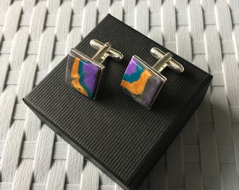 Unique Silver Plated Cufflinks