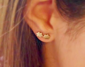 Stud Earrings, Minimalist Earrings, Small gold stud earrings, Dainty Gold stud Earrings, Silver stud Earrings, Tiny Earrings, Flower Stud