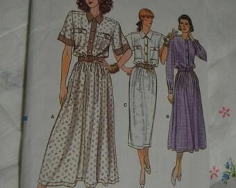 Vogue 9872 Misses Dress Sewing Pattern - UNCUT - Size 8 10 12