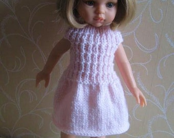 Knitting Pattern Doll's Dress MANHATTAN for 13 inch dolls such as Effner Little Darlings, Paola Reina - Easy knit for beginners
