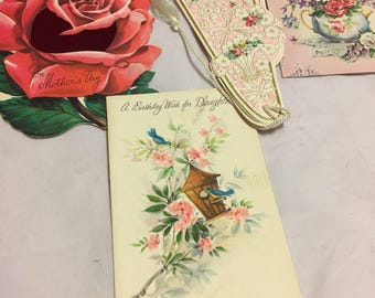 Vintage mother and daughter greeting cards 60s? 70s?