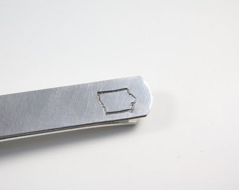 Iowa Tie Bar - Iowa Tie Clip - IA Tie Bar - IA Tie Clip - IA State Tie Bar - State Tie Clip - Iowa Gift - Iowa Suit Gift - Iowa State