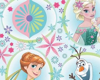"Disney ""Frozen"", Elsa & Anna and Olaf Character FLEECE,  Yard"