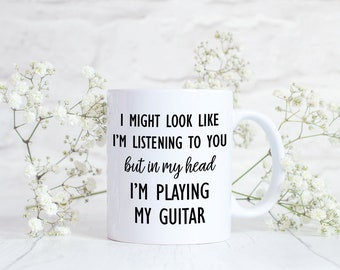 Guitar Gifts, Funny Guitar Mug, Gift for Guitar Player, Musician Gift, Gift for Guitarist, Musician Mug for Guitar Lover Guitar Enthusiast