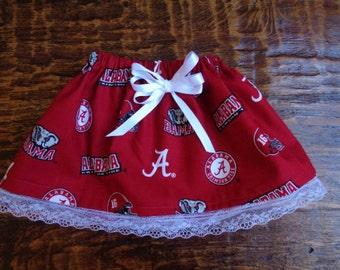 Alabama Crimson Tide Toddler Girl Skirt