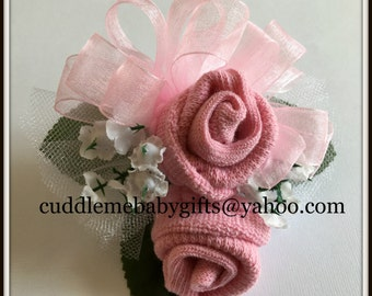 Baby Shower Baby girl Wrist or Pin-on Baby Sock Corsage