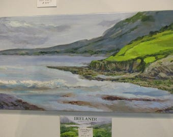 Inch Beach, Ring of Kerry, Ireland, oil painting, seascape