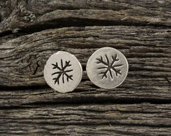 Snowflake Mini Stud Earrings