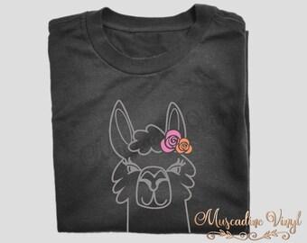 Llama Girl No Drama Llama Shirt, Short Sleeve or Long Sleeve, Funny Shirt, Hipster Llama Drama