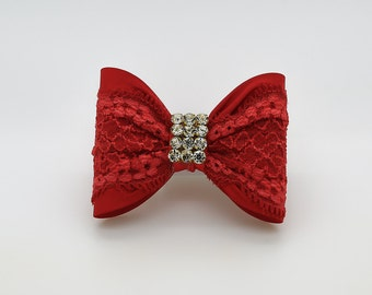 Red Baby Bow, Baby Hair Clip, Red Bow Hair Clip, Red Hair Clip, Toddler Hair Clip, Girls Bow Hair Clip, Big Bow Hair Clip, 946