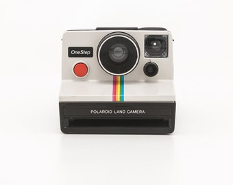 Polaroid OneStep Classic White Rainbow SX70 Instant Camera - Film Tested - Working - Original POLAROID SX70