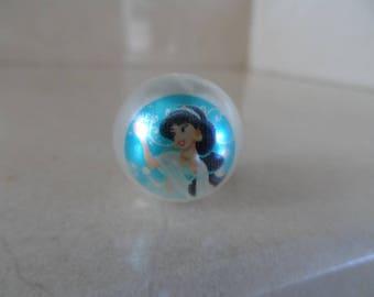 "set of 5 beads ""Jasmine"" Princess 20mm"