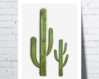 Poster Cactus, tropical wall art, poster, home décor, botanical decor