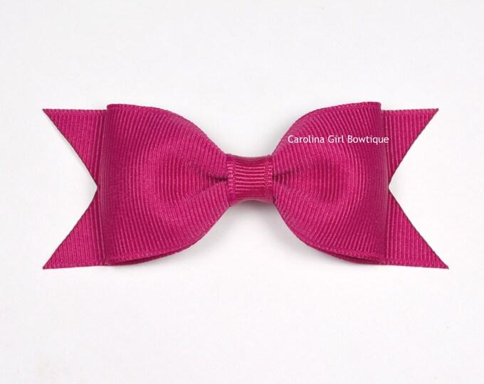 """Azalea Tuxedo Bow ~ 3.5"""" Hairbow ~ Small Hair Bow ~ Girls Barrette ~ Toddler Bow ~ Baby Hair Bow ~ Hair Clip ~ Girls Hair Bow"""