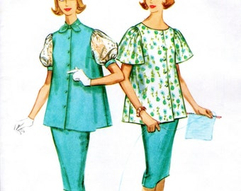 McCall's 5222 sewing pattern //  maternity two piece dress overblouse and skirt