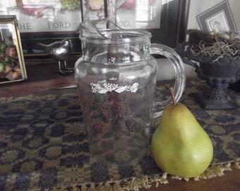 Vintage Petit Clear Glass Juice Pitcher