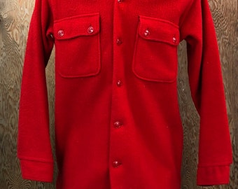 Vintage 1950's Brent Heavyweight Wool Flannel Shirt Medium