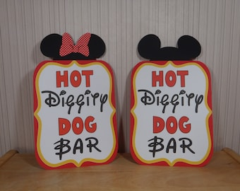 Mickey Mouse Birthday Sign, Hot Diggity Dog Bar Party Decoration, Mickey Mouse Clubhouse Party by FeistyFarmersWife