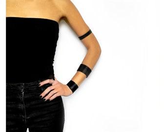 032 _ Black PVC Unisex Bracelet