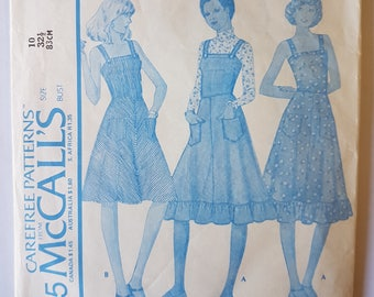 McCalls 4535 // Vintage 70s Dress //Retro Sewing Pattern // Sizes 10 Bust 321/2""