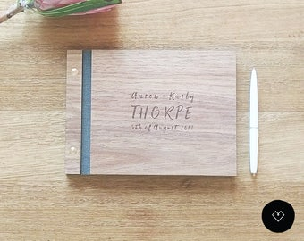 Rustic wood guest book rustic guest book wood guest book rustic Wedding Guest Book Ideas | Medium (A5)