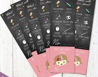 Korean Doljabi Raffle tickets printable - DIY First birthday Dol Raffle tickets set - DIGITAL file!