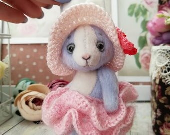 Bunny rabbit Eloise 3.5 inches Blythe doll friend plush toy collection toys Miniature toy Soft toy gift for her birthday toy Artist blythe