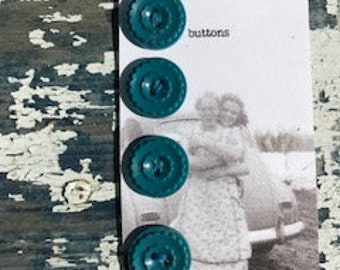 Vintage dark turquoise buttons