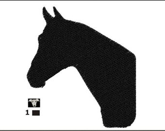 Horse Head Silhouette Mini Embroidery Designs in 5 sizes