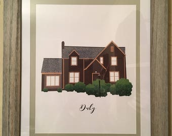 Custom Digital Home Illustration