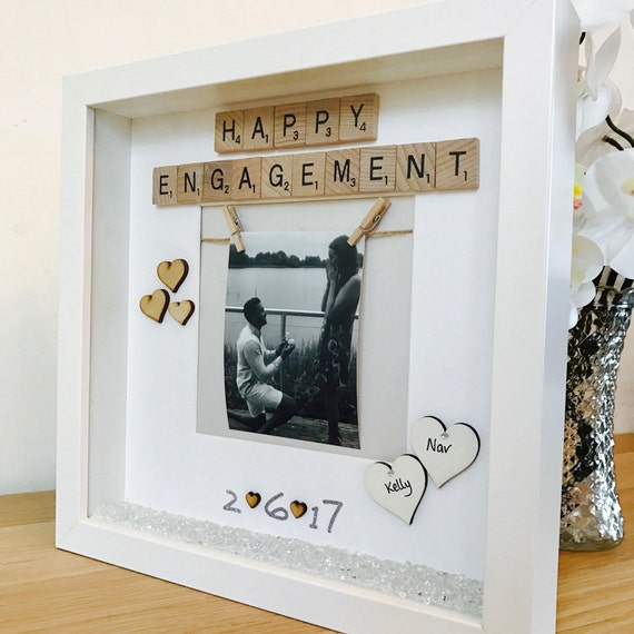 Engagement Frame, Engagement Gift, Personalised Engagement Gift ...