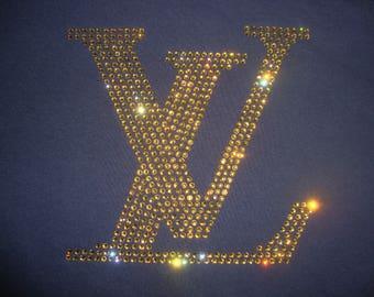 LV Inspired Rhinestone T-shirt