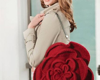 Felted Rose Purse (Or Pillow) Knitting Pattern