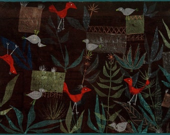 Paul Klee Vogelgarten (Bird Garden), 1924