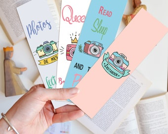 Bookmark: Photos and reading (4 designs)