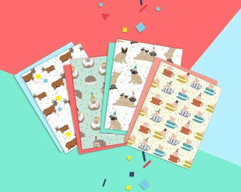 Party Animals - 4 Card Set