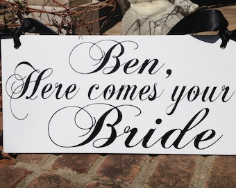 Wedding sign, Uncle sign, Wood sign, Personalize wedding, Mr and Mrs, Ring Bearer sign, Here come the Bride, Love of your Life, Bride