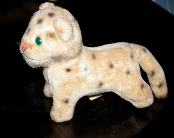 SALE Woolikin Steiff Cat Clone Stuffed Toy Antique Vintage WOOLIKIN Original Kitty Leopard Cub Plush Stuffed Animal Plushie Straw Filled