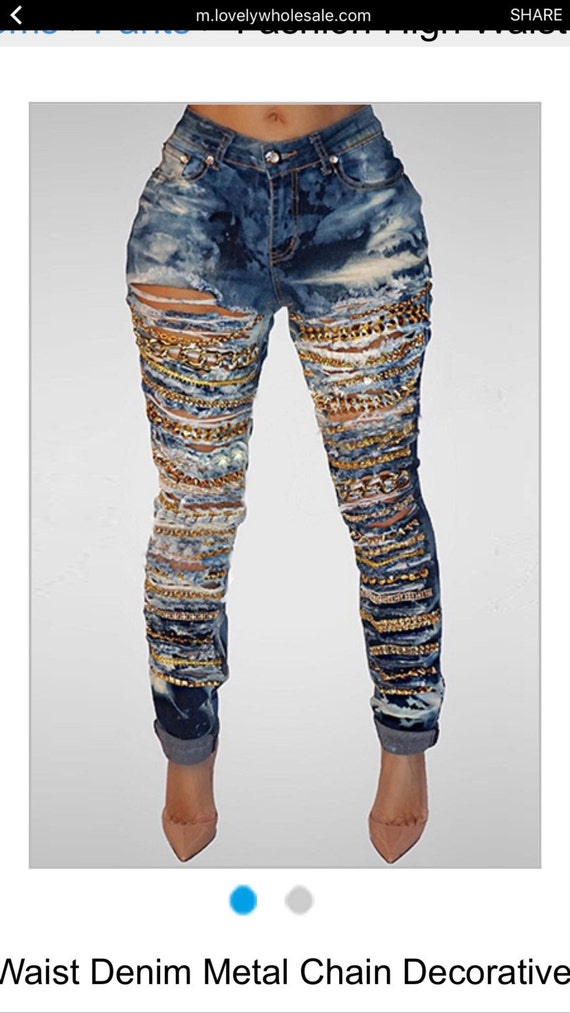 Africa Distressed Bleached Custom Denim DoVwN