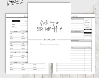A5 Budget Planner, Printable Financial Planner Inserts, Finance Organiser, Money Planning, Monthly Saving, Expense, Debt Repayment, Goal Set