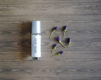 Lilac Dusk Perfume Oil, Roll On Perfume Floral Earthy Fragrance Vegan