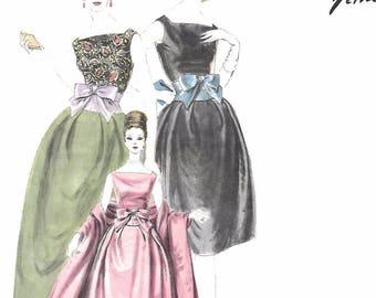 """Vintage 1960s Sewing Pattern Vogue Paris Original Jacques Heim Dress Stole B 34"""""""