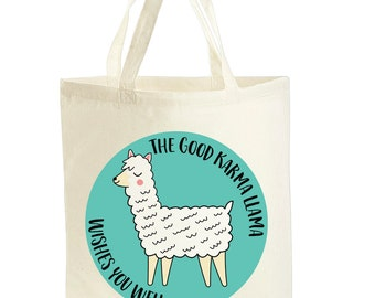 Llama Tote Bag - Alpaca Bag - Funny Tote Bag - Llama Gifts - Stocking Fillers - Stocking Stuffers - Secret Santa Gift