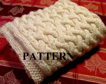 Knitting Pattern Blanket, Knitting Pattern, Basket Weave, Chunky Yarn, Cable Knit, Baby Cable, Chart Pattern Included **Instant Download**
