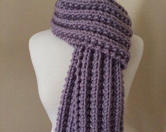 SUPER soft and chunky Knit Rib Scarf