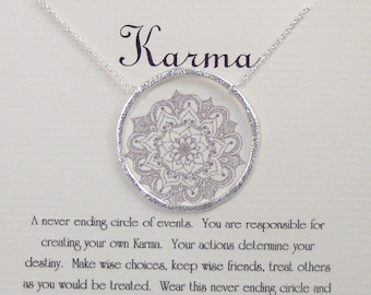 Karma,Karma Necklace,Never Ending Circle,Karma Jewelry,Necklace,Circle Necklace,Neckalce,Minimalist Necklace,Butterfly,Sterling Necklace