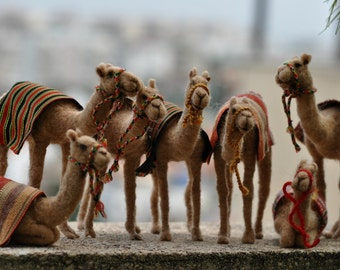 Needle felted Camel. Made to order