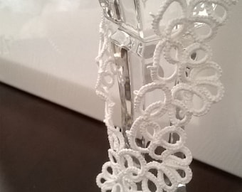 White Lace made with tatting needles