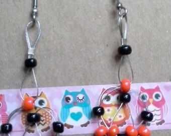 Halloween loop earrings