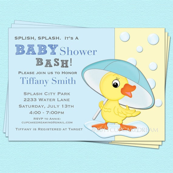 Boy baby shower invitation duck baby shower boy baby shower invitation duck baby shower stopboris Image collections